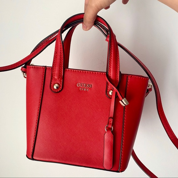 Guess | red mini satchel handbag